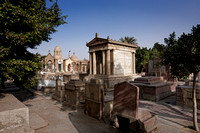 cemetery with tombs