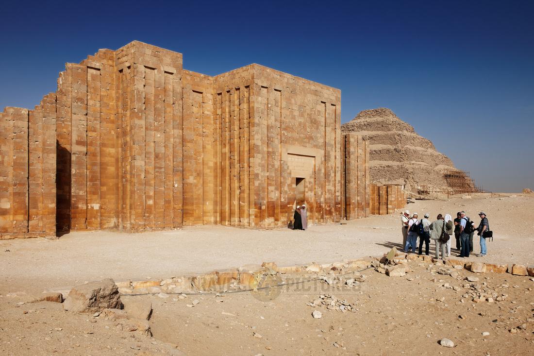 entrance into Mastaba of Djoser