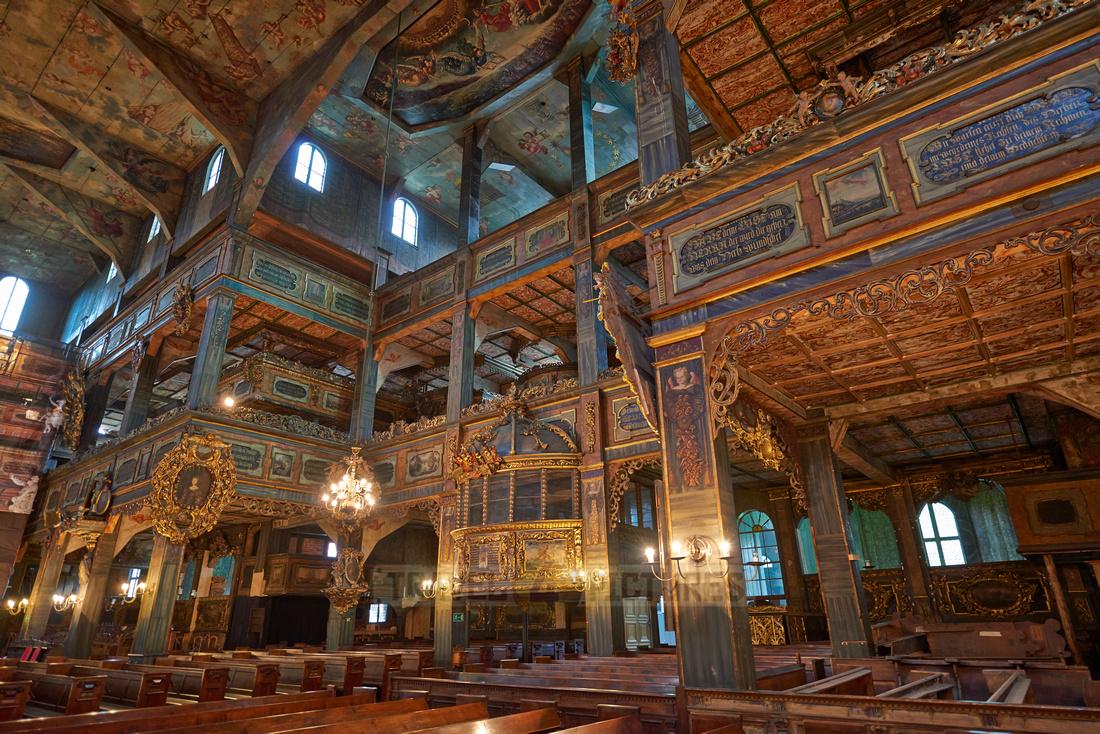 Interior shot of Protestant Church of Peace, Swidnica