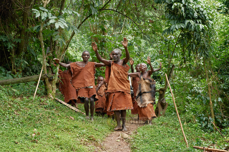 local tribe of Twa or Batwa Pygmies