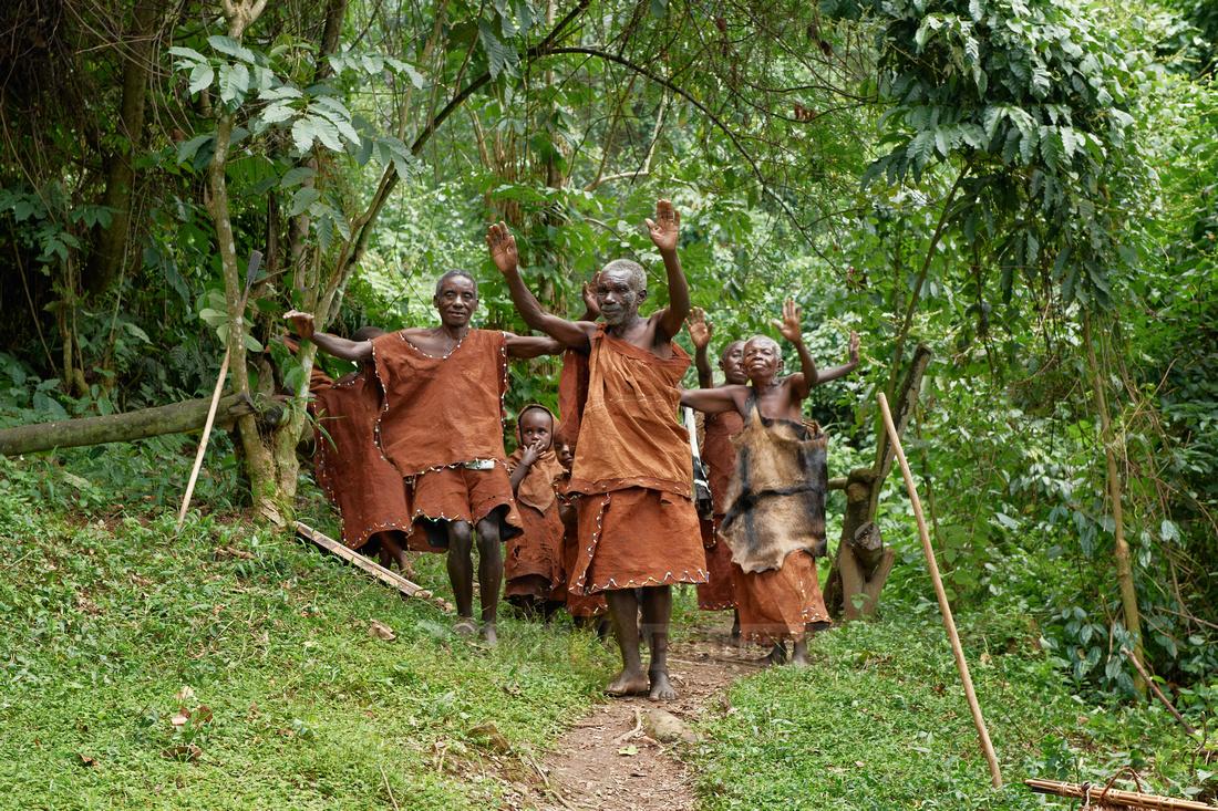 local tribe of Twa or Batwa Pygmies