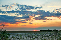 sunset in the Central Kalahari