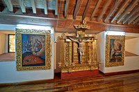 praying room with golden altar in convent