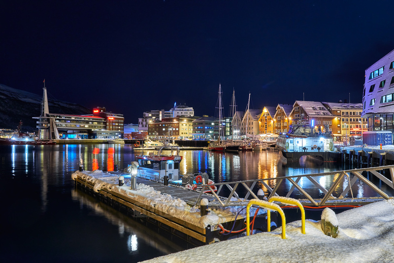 Tromsø harbour in winter