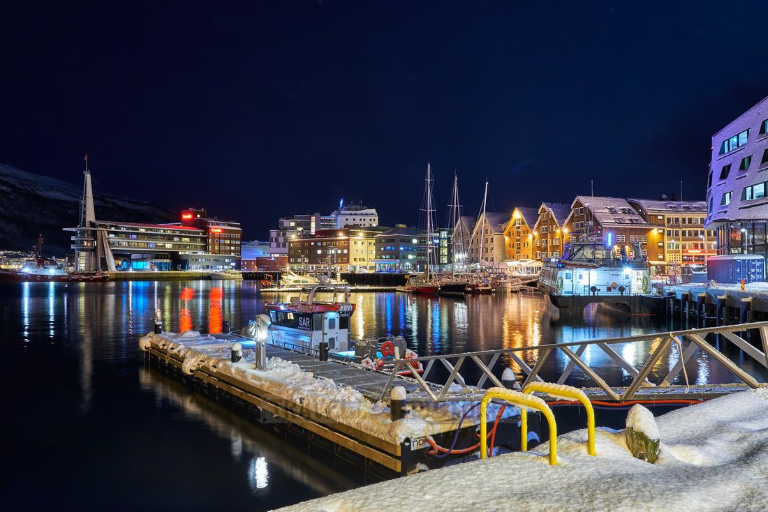 Tromsø harbour in winter
