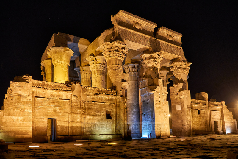 night shot of temple Kom Ombo