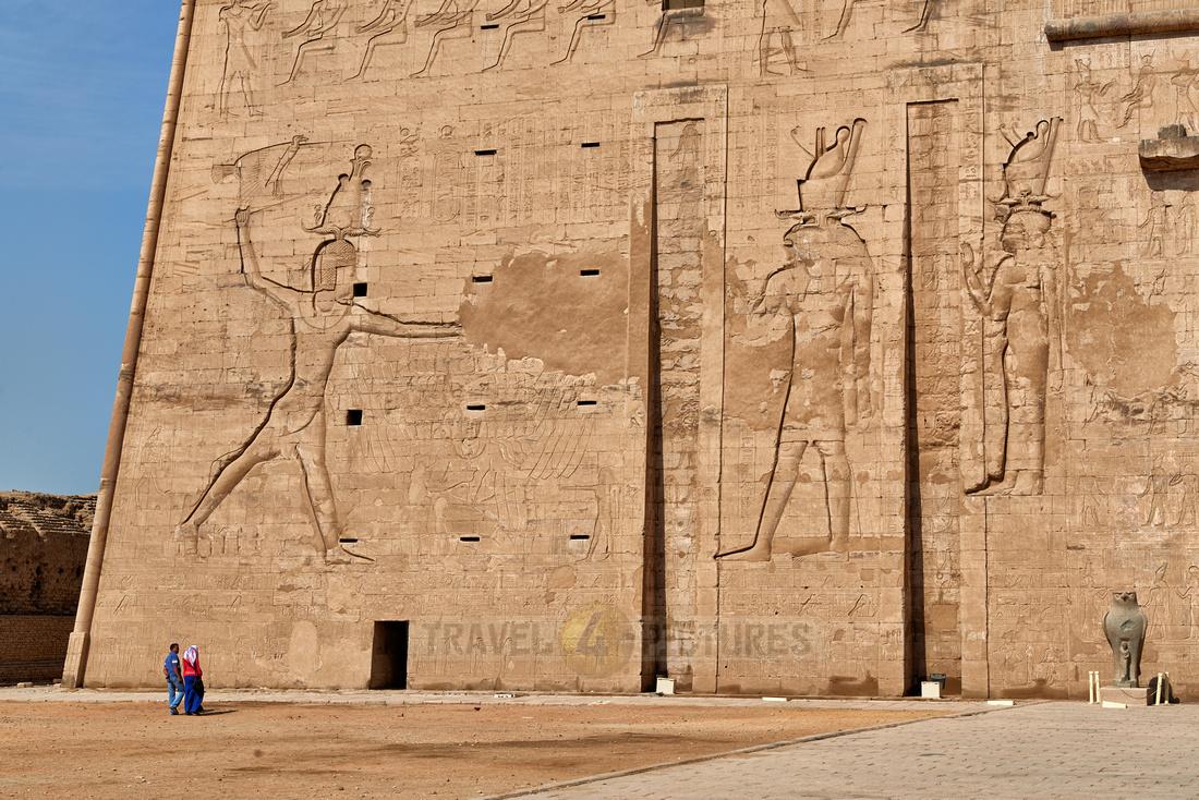 pylon at entrance to Horus Temple of Edfu