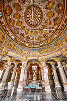 interior shot of Bhandasar Jain Temple
