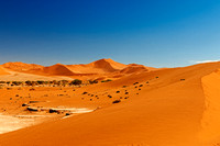 desert landscape of Namib at Sossusvlei