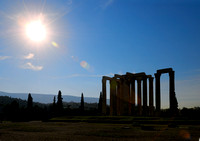 silhouette of Temple of the Olympian Zeus