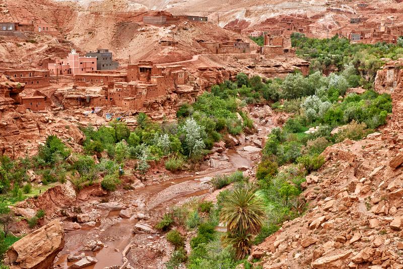 village in a valley near Ait-Ben-Addou