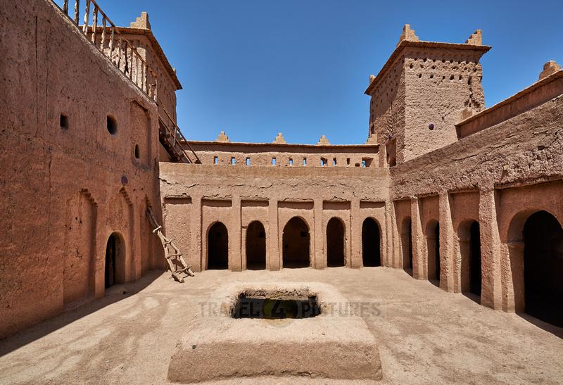 inner courtyard of Kasbah Amridil