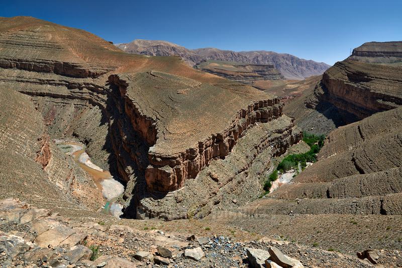 landscape in upper Gorge de Dades