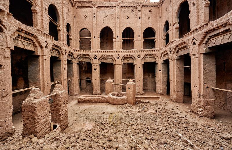 inside Kasbah Tamenougalt