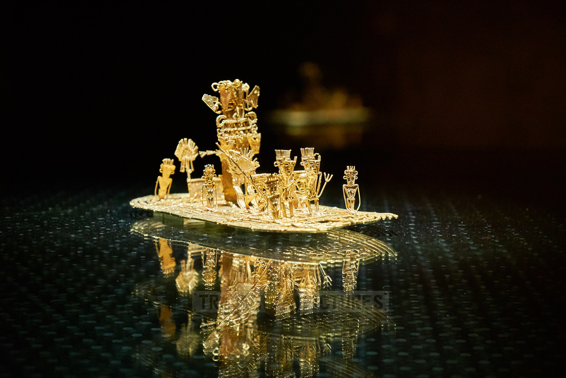 Muisca raft in  Museo del Oro