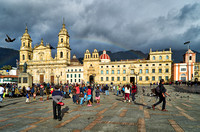 Kathedrale und Plaza de Bolivar  |Cathedral and Plaza de Bolivar|