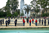 change of palace guard at presidential palace