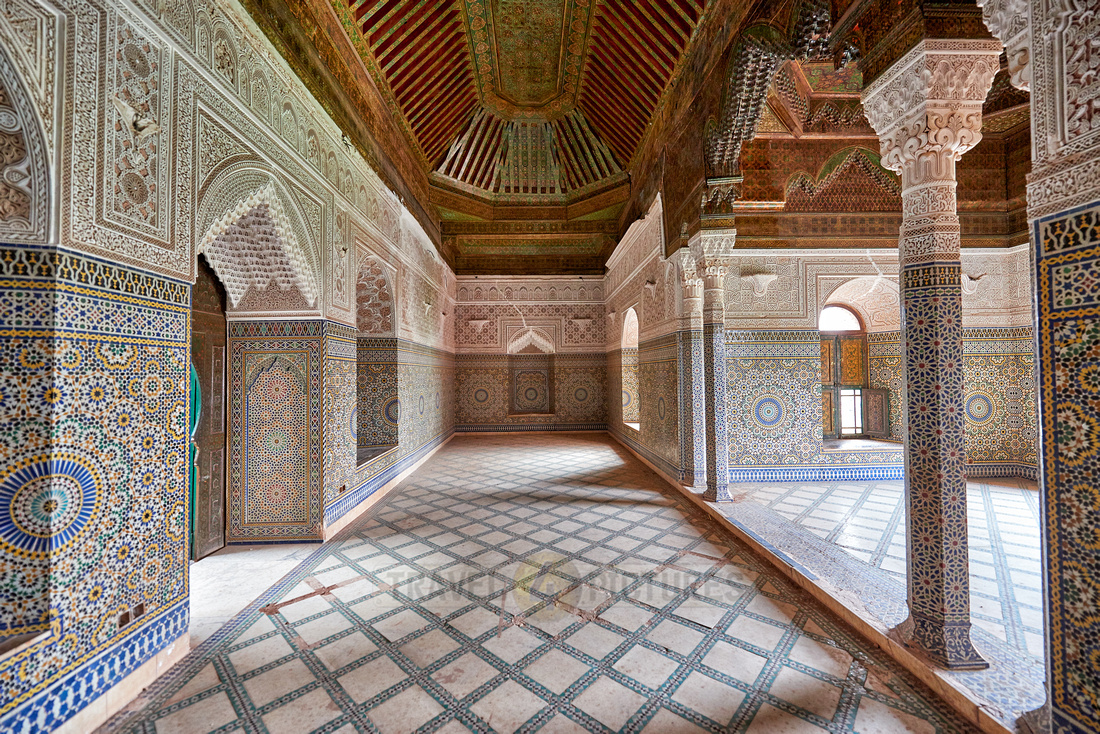 interior view with strong decoration of Telouet
