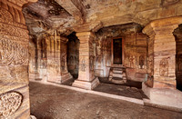 unbelievable stone carvings inside Badami caves