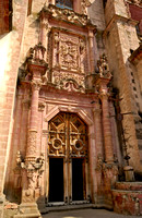 Entrance portal of the Church of San Sebastian y Santa Prisca