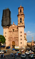 Exterior shot of the Church of San Sebastian y Santa Prisca