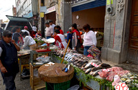 market stall with fish