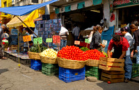 market stall with vegetables