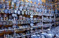 Interior shot of a shop with typical ceramics from majolica distilleries, ARTESANIAS