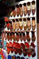 shoes in shop of Udaipur
