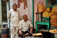 portrait of two men at a food shop, Udaipur