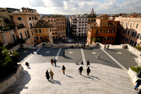 view from above onto Spanish Steps, Piazza di Spagna