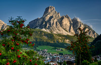 view on Mount Sassongher, Corvara in Badia, South Tyrol 09-2020