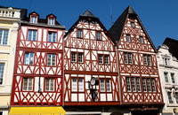 half-timbered houses in old town