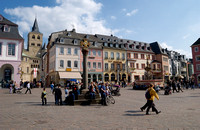 marketplace and MARKET CROSS in the old town of Trier