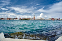 cityscape with Doge's Palace and St Mark's Tower as seen from San Giorgio Maggiore