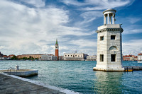 Faro San Giorgio Maggiore, cityscape with Doge's Palace and St Mark's Tower
