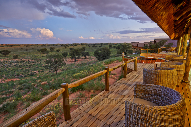 view from terrace of main area of Rooiputs Lodge