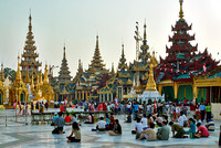 imposing buildings in SHWEDAGON PAGODA