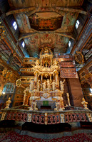 Interior shot of Protestant Church of Peace, Swidnica