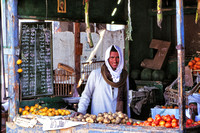 local Egyptian man at market stall
