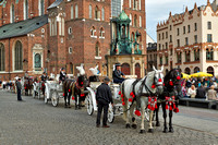 horse-drawn carriage in front of St. Mary's Basilica