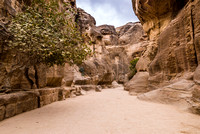As-Siq or canyon in Nabataean ancient town Petra, Jordan