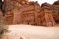 Tomb of 17 graves, Nabataean ancient town Petra, Jordan