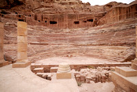 theatre of Nabataean ancient town Petra, Jordan
