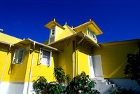 yellow cottage on La Digue Island