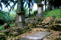 old colonial graveyard near capital Victoria, Mahe Island