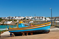 coloured fishing boats