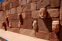 carved stone tenon-heads in  Semi-subterranean Temple