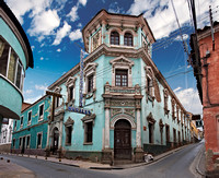 Colourful colonial architecture