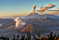 eruption at Gunung Bromo